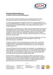 Konformitätserklärung - CCM GmbH - Creative Chemical ...