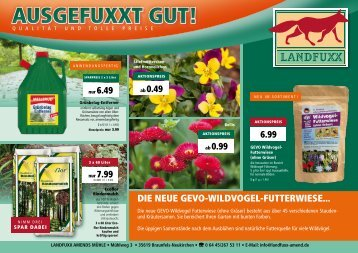 Landfuxx Prospekt März 2018