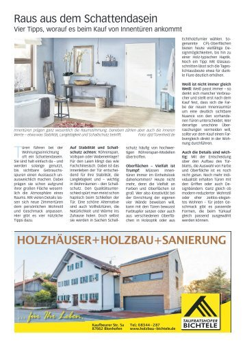 Faszination Eigenheim Füssen