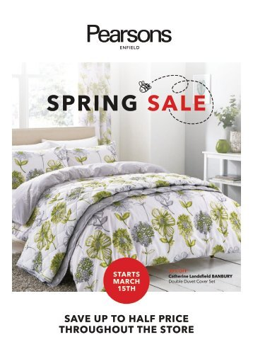 Pearsons Spring Sale 2018