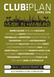 Clubplan Hamburg - April 2018
