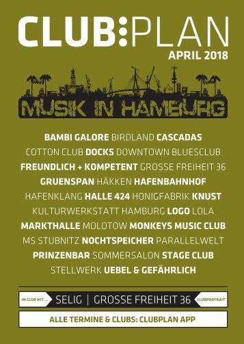 Clubplan Hamburg - April 2018