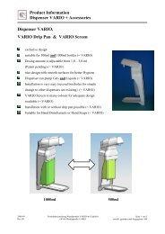 Product Information Dispenser VARIO + Accessories