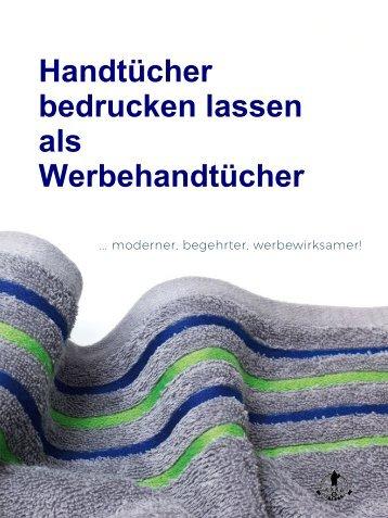 Handtücher bedrucken lassen als Werbehandtücher