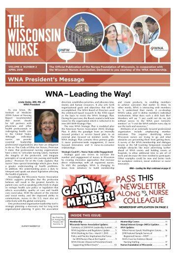 The Wisconsin Nurse - April 2018