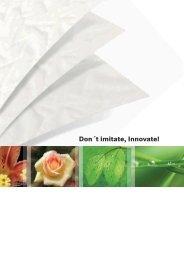 Don´t imitate, Innovate! - CCM GmbH - Creative Chemical ...