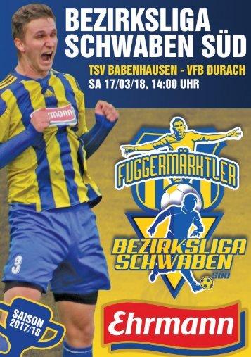20180317 Fuggermärktler TSV 1862 Babenhausen – VfB Durach