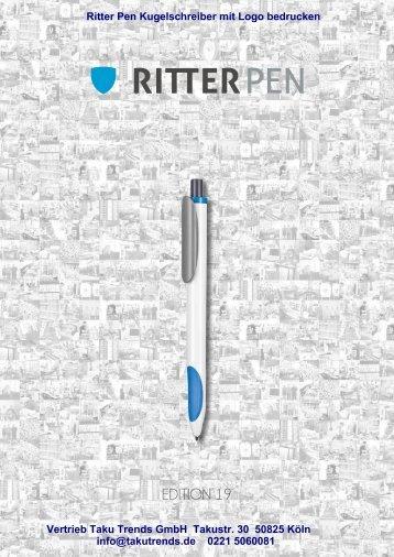 Kugelschreiber bedrucken lassen Ritter Pen Katalog