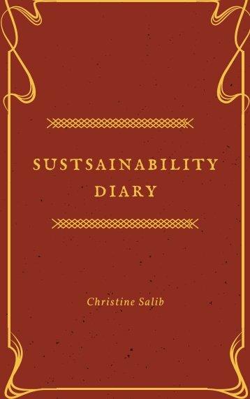 Sustainability Diary