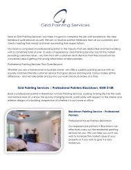 Exterior and Interior Painters Sydney