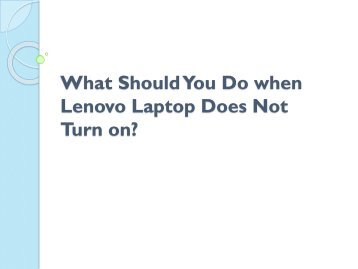 What Should You Do when Lenovo Laptop Does Not Turn on