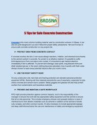 5 Tips for Safe Concrete Construction