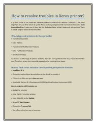 How to Resolve Troubles in Xerox Printer?