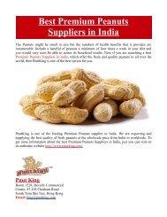 Best Premium Peanuts Suppliers in India