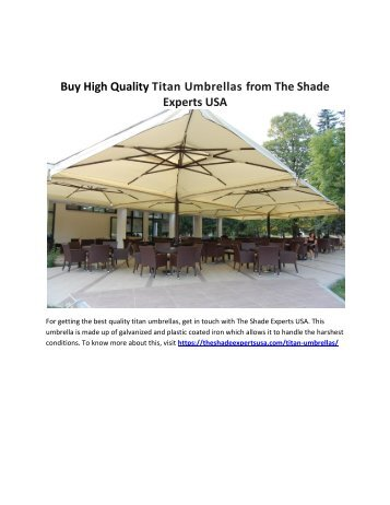 Buy High Quality Titan Umbrellas from The Shade Experts USA