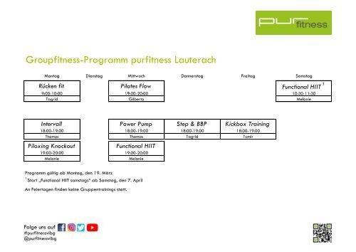 Kursplan purfitness Lauterach #4