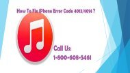 How To Fix iPhone Error Code 4013? Call 1-800-608-5461