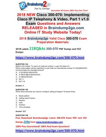 [2018-March-Version]New 300-070 VCE and 300-070 PDF Dumps Free Share(104-114)