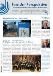 FernUni Perspektive | Ausgabe 63 | Frühjahr 2018