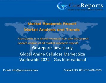 Global Amine Cellulose Market Size Worldwide 2022 Gos International