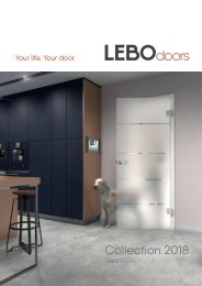 The LEBO all-glass door collection 2018
