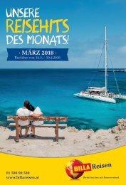 BILLA Reisen Reisehits März 2018