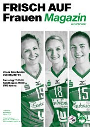 Ausgabe 9 - Saison 2017/2018 - FRISCH AUF Frauen Magazin