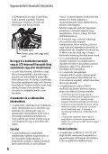 Sony HDR-AX2000E - HDR-AX2000E Mode d'emploi Hongrois - Page 6