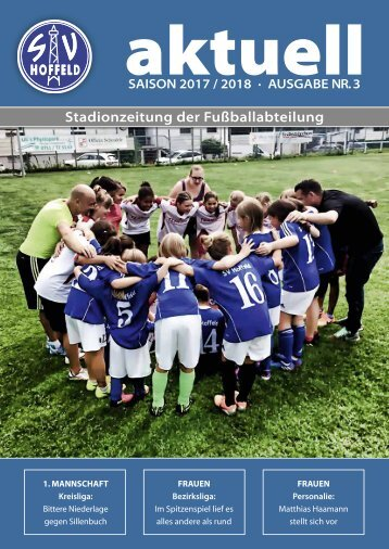 Sv Hoffeld_Stadionzeitung_Saison 2017-2018_Nr3