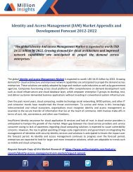 Identity And Access Management (IAM) Market Appendix and Development Forecast 2012-2022