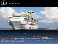 Cruise Ship Transportation in Dublin