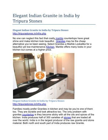 Elegant Indian Granite in India by Tripura Stones
