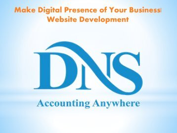 Make Digital Presence of Your Business Website Development