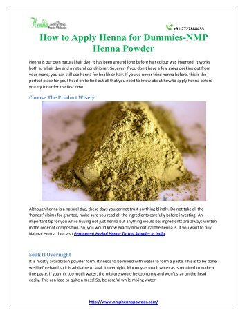 How to Apply Henna for Dummies-nmp henna powder