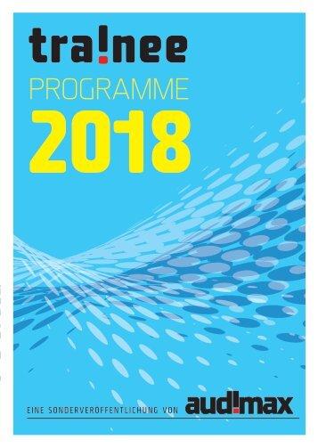 audimax Sonderausgabe: Trainee-Programme 2018