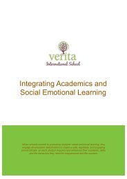 Integrating Academics and Social Emotional Learning - Verita International School, Romania