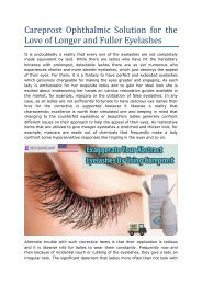 Careprost Ophthalmic Solution for the Love of Longer and Fuller Eyelashes