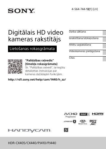 Sony HDR-PJ410 - HDR-PJ410 Consignes d'utilisation Letton