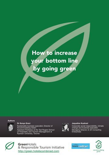 How to increase your bottom line by going green - Green Hotels and ...