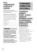 Sony FDR-AXP33 - FDR-AXP33 Consignes d'utilisation Slovénien - Page 2