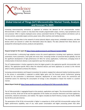 Global Internet of Things (IoT) Microcontroller Market Trends, Analysis and Forecast To 2025