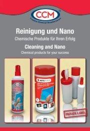 Reinigung und Nano - CCM GmbH - Creative Chemical Manufacturers
