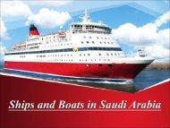 Ships and Boats in Saudi Arabia