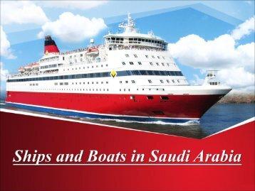 Ships and Boats in Saudi Arabia