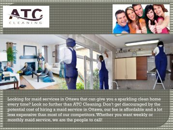 Maid Services in Ottawa