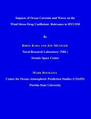 Impacts of Ocean Currents and Waves on the Wind Stress ... - hycom