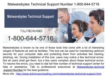 Malwarebytes Installation Phone Number 1-800-644-5716
