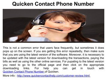 Quicken Software issues Number.