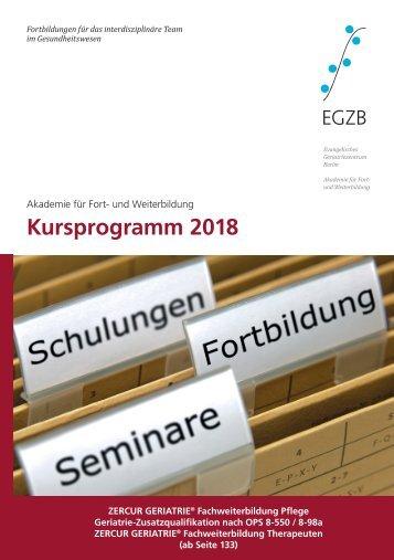 Kursprogramm EGZB 2018