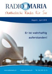 Radio Maria Magazin - April 2018